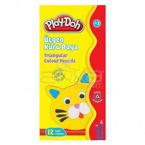 Play-Doh 12 Renk Üçgen Kuru Boya KU012