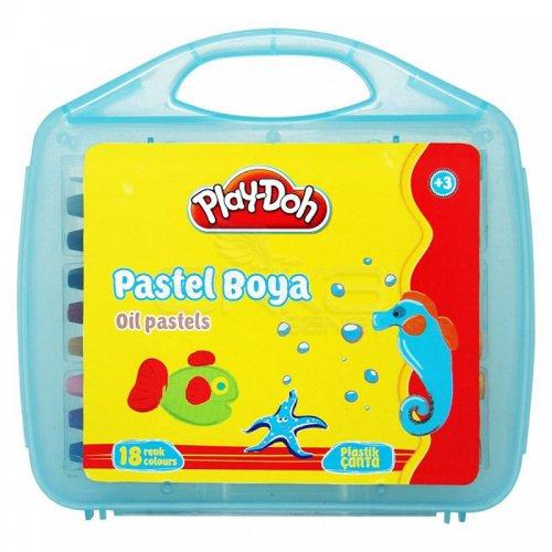 Play-Doh 18 Renk Pastel Boya Çantalı PA010