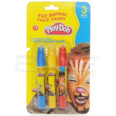 Play-Doh 3 Renk Yüz Boyası YU002