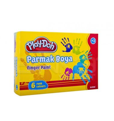 Play-Doh 6 Renk Parmak Boya 30ml PR001
