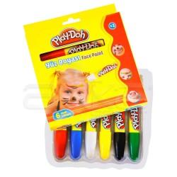 Play-Doh - Play-Doh 6 Renk Yüz Boyası 120mm YU003