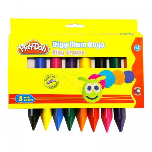Play-Doh Bigy Mum Boya 8 Renk 19 mm CR012