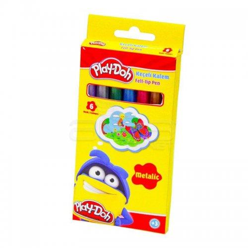 Play-Doh Metalik Keçeli Kalem 5mm 6 Renk KE016