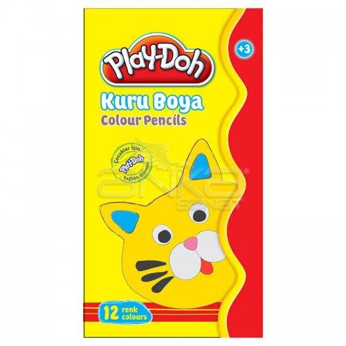 Play-Doh Teneke Kutu Kuru Boya 12 Renk KU013