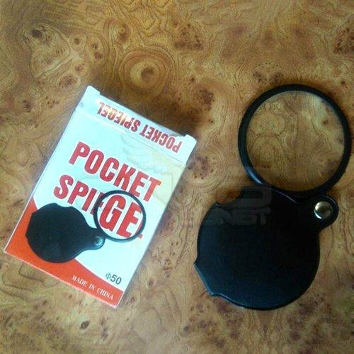 Pocket Taşınabilir Cep Deri Kaplamalı Büyüteç No:1050
