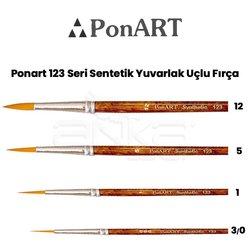 Ponart - Ponart 123 Seri Sentetik Yuvarlak Uçlu Fırça