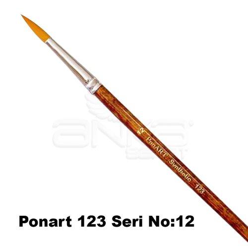 Ponart 123 Seri Sentetik Yuvarlak Uçlu Fırça