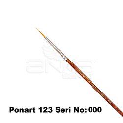 Ponart 123 Seri Sentetik Yuvarlak Uçlu Fırça - Thumbnail