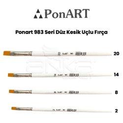Ponart 983 Seri Düz Kesik Uçlu Fırça - Thumbnail
