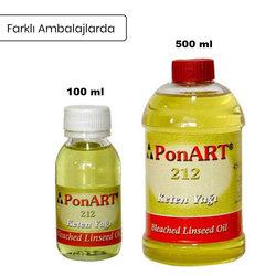Ponart - Ponart Ağartılmış Keten Yağı 212-Bleached Linseed Oil (1)