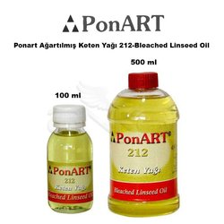 Ponart - Ponart Ağartılmış Keten Yağı 212-Bleached Linseed Oil