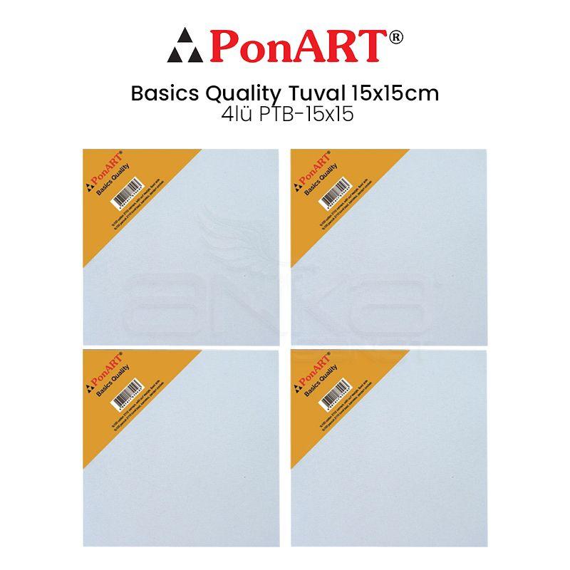 Ponart - Ponart Basics Quality Tuval 15x15cm 4lü PTB-15x15