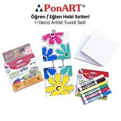 Ponart I-Deco Artist Tuval Seti PHS-15 - Thumbnail