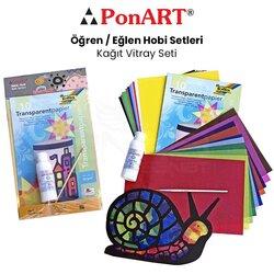 Ponart - Ponart Kağıt Vitray Seti PHS-14