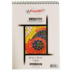 Ponart - Ponart Kraft Blok Resim Defteri 125g 30 Yaprak 25x35