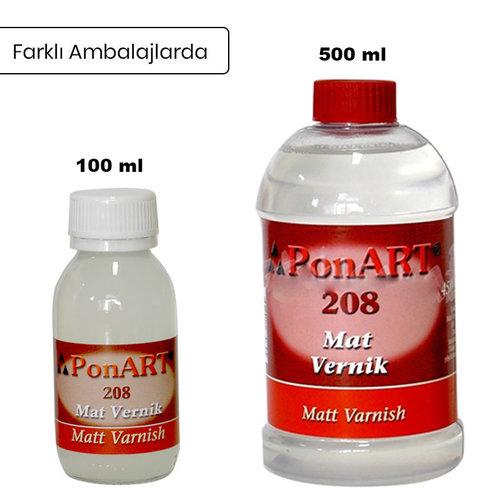 Ponart Mat Vernik -Matt Varnish No:208