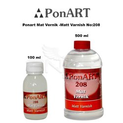 Ponart Mat Vernik -Matt Varnish No:208 - Thumbnail
