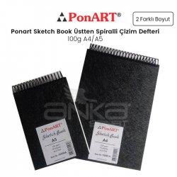 Ponart Sketch Book Üstten Spiralli Çizim Defteri 100g - Thumbnail