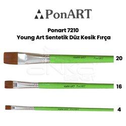 Ponart - Ponart 7210 Young Art Sentetik Düz Kesik Fırça