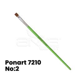 Ponart - Ponart 7210 Young Art Sentetik Düz Kesik Fırça (1)