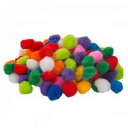 Ponpon Karışık Renk 100 Adet 2cm - Thumbnail