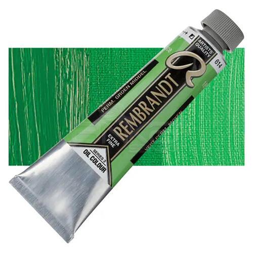 Rembrandt 40ml Yağlı Boya Seri:3 No:614 Perm Green M - 614 Perm Green M
