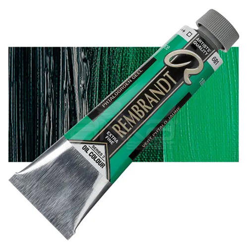 Rembrandt 40ml Yağlı Boya Seri:3 No:681 Phthalo Green Yellow - 681 Phthalo Green Yellow