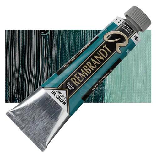 Rembrandt 40ml Yağlı Boya Seri:3 No:683 Ultramarine Green - 683 Ultramarine Green