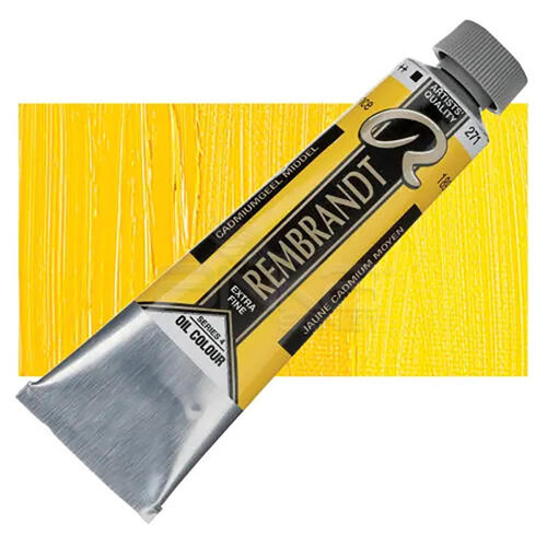 Rembrandt 40ml Yağlı Boya Seri:4 No:271 Cadmium Yellow Medium - 271 CadmYellow M