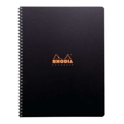 Rhodia Active Çizgili Defter Siyah Plastik Kapak Spiralli 90g 80 Yaprak 225x297mm