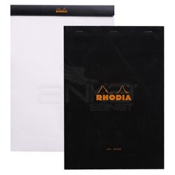 Rhodia - Rhodia Basic Bloknot Siyah Kapak 80g 80 Yaprak 210x297mm (1)
