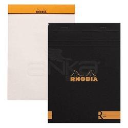 Rhodia - Rhodia Basic Bloknot Siyah Kapak 90g 70 Yaprak Çizgisiz 148x210mm