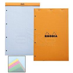 Rhodia - Rhodia Basic Bloknot Turuncu Kapak 4 Delikli 4 Renk Kağıt 80g 80 Yaprak 210x318mm