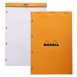 Rhodia - Rhodia Basic Bloknot Turuncu Kapak 4 Delikli Beyaz Sayfa 80g 80 Yaprak 210x318mm (1)