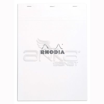Rhodia Basic Çizgili Bloknot Beyaz Kapak 80g 80 Yaprak A4