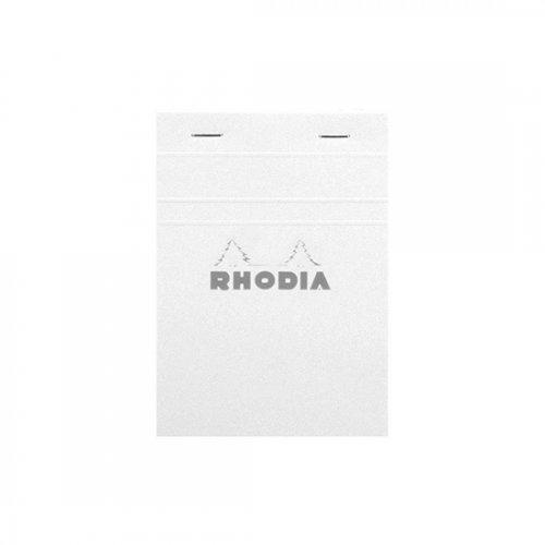 Rhodia Basic Çizgili Bloknot Beyaz Kapak 80g 80 Yaprak A6