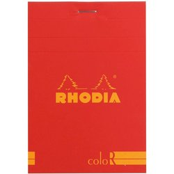 Rhodia - Rhodia Basic Çizgili Bloknot Poppy Kapak 90g 70 Yaprak A5