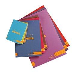 Rhodia - Rhodia Basic Çizgili Bloknot Renkli Kapak 90g 70 Yaprak 8,5x12cm
