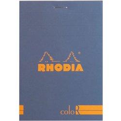 Rhodia - Rhodia Basic Çizgili Bloknot Saphirre Blue Kapak 90g 70 Yaprak 8,5x12cm