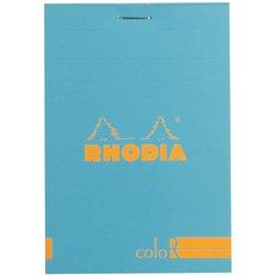 Rhodia - Rhodia Basic Çizgili Bloknot Turquoise Kapak 90g 70 Yaprak A4