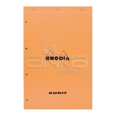Rhodia Basic Çizgili Bloknot Turuncu Kapak Soldan 4 Delikli Sarı Sayfa 80g 80 Yaprak 21x31,8cm