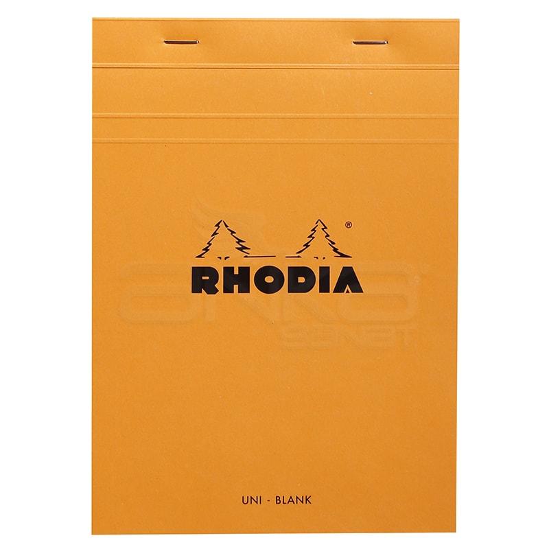 Rhodia - Rhodia Basic Bloknot Turuncu Kapak 80g 80 Yaprak Çizgisiz (1)