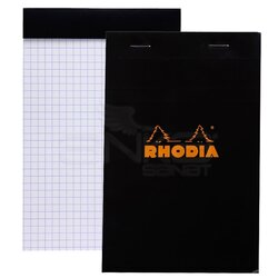 Rhodia - Rhodia Basic Kareli Bloknot Siyah Kapak 80g 80 Yaprak 110x170mm (1)
