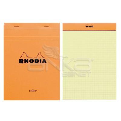 Rhodia Basic Kareli Bloknot Turuncu Kapak Kapak Sarı Sayfa 80g 80 Yaprak A5