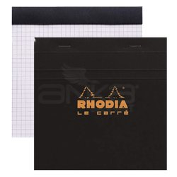 Rhodia - Rhodia Basic Le Carre Bloknot Kareli Siyah Kapak 80g 80 Yaprak (1)