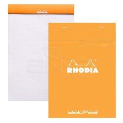 Rhodia - Rhodia Basic Noktalı Bloknot Turuncu Kapak 80g 80 Yaprak (1)