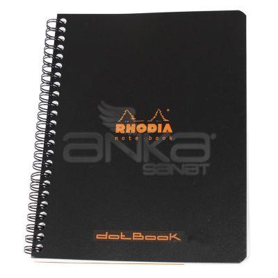 Rhodia Basic Noktalı Defter Siyah Kapak Spiralli 80g 80 Yaprak 16x21cm