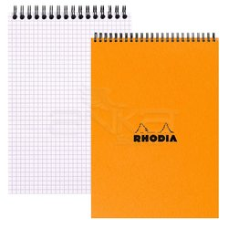 Rhodia - Rhodia Basic Spiralli Bloknot Turuncu Kapak Kareli 80g 80 Yaprak (1)