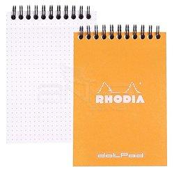 Rhodia - Rhodia Basic Spiralli Bloknot Turuncu Kapak Noktalı 80g 80 Yaprak