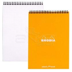 Rhodia - Rhodia Basic Spiralli Bloknot Turuncu Kapak Noktalı 80g 80 Yaprak (1)
